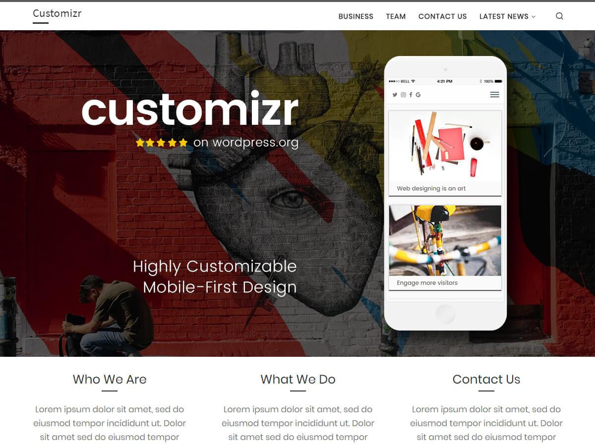 Customizr is een strak responsief thema